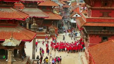 Patan Durbar Square — Stockvideo
