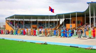 Naadam Festival Archery Tournament — Stock Video