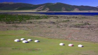Yurt settlements — Stock Video
