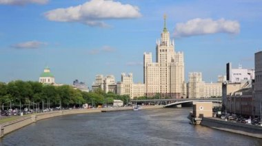 Stalinist era building in Moscow — Stock Video