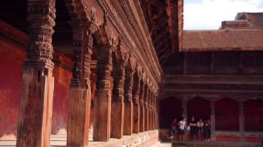 Bhaktapur Durbar Square — Stok video