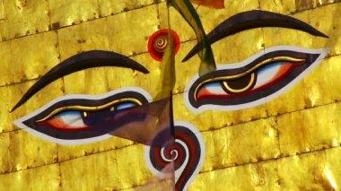 Buddha's Eyes — Stock Video