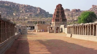 Ancient Hindu temple — Stock Video