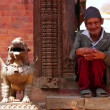 Nepalese man with traditional clothes — Stock Video