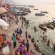 Everyday scene by Ganges River — Stock Video