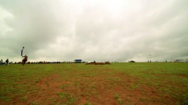 Naadam Festival Horse Archery show — Stock Video