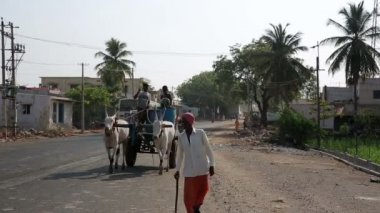 Everyday village scene — Stok video