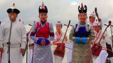 Mongolian Music Performance — Stock Video