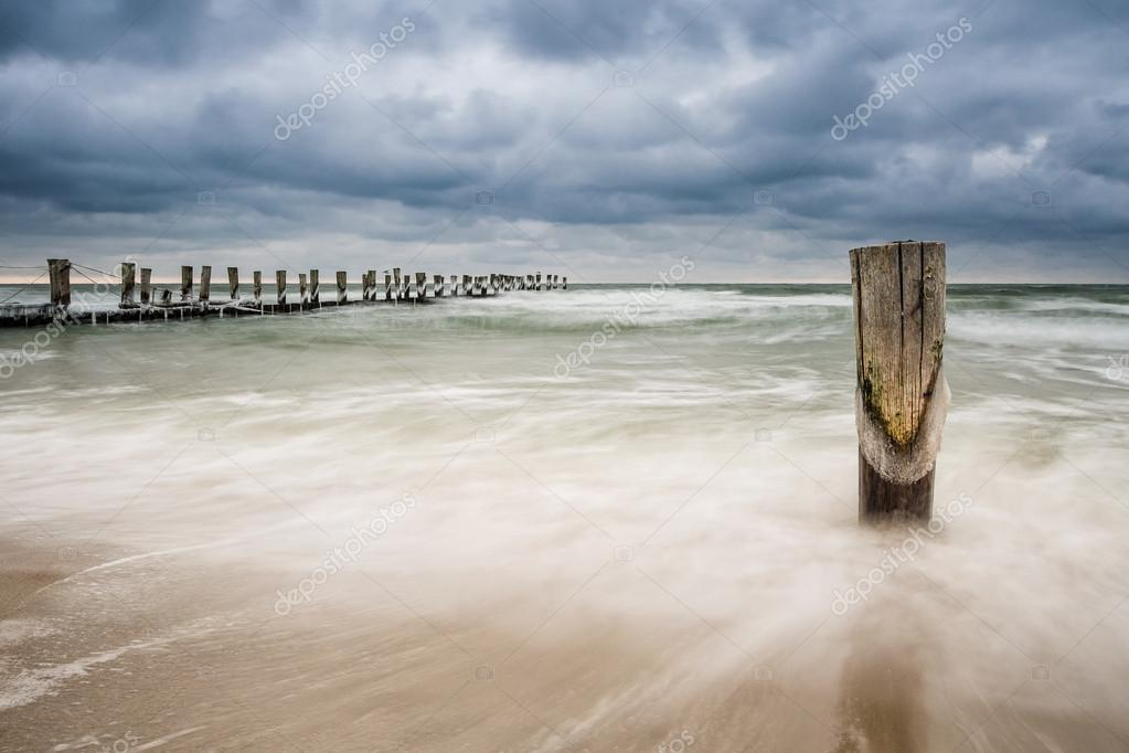 Groyne in Zingst (Germany). — Stock Photo #20098017