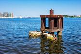 City port in Rostock — Stock Photo