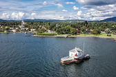 Lighthouse in the Oslofjord — Stock Photo
