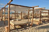 Beach beds — 图库照片