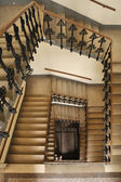 Spiral of stairway in a living house — Stock Photo