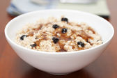Maple Raisin Oatmeal — Stock Photo