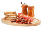 Bacon and Tomatoes — Stock Photo