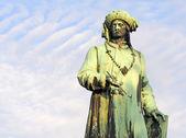 Statue Jan van Eyck, Bruges — Stock Photo