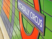 Picadilly circus underground station london — Stock Photo