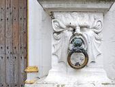 Mythical stone head — Stock Photo
