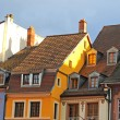 Renaissance gables in mulhouse — Stock Photo