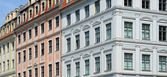 Baroque gables dresden — Stock Photo