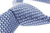 Closeup of blue tie — Stock Photo