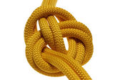 Apocryphal knot on double yellow rope. — Stockfoto