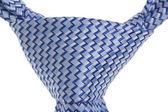 Closeup of blue tie — Stock Photo