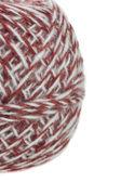 Hnědé červené bílé klubíčko — Stock fotografie