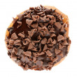 Top view of chocolate donut — Stock Photo #18478043