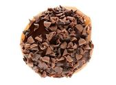 Top view of chocolate donut — Stock Photo