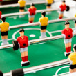 Stock Photo: Close up of plastic table football game