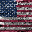 US flag painted on brick wall — Stock Photo