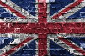 Großbritannien-flagge — Stockfoto