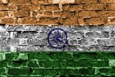Indická vlajka — Stock fotografie