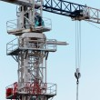 White construction crane — Stock Photo
