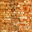 Brick Wall. Old Dark Red Bricks with Cracks and Dirt Spots — Stock Photo