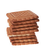 Many cookies on white background — Stock Photo