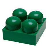 Big green plastic toy block — Stock Photo