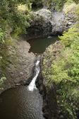 Lacs de lave sur l'île tropicale — Photo