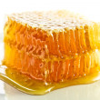 Stock Photo: Sweet honeycomb with honey