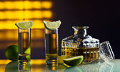 Gold tequila — Stock Photo