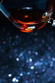 Snifter with brandy — Stock Photo