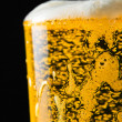 Stock Photo: Beer glass with froth