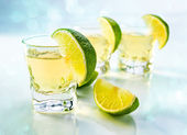 Tequila with lime — Stock Photo