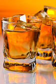 Whisky with ice — Stock Photo