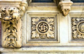 Élément décoratif d'une cathédrale, XVI siècle — Photo