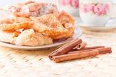 お菓子の砂糖とシナモン — ストック写真