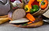 Bread vegetables — Stock Photo