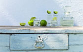 Tequila and lime — Stock Photo