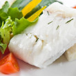 Halibut with greens — Stock Photo #29261397